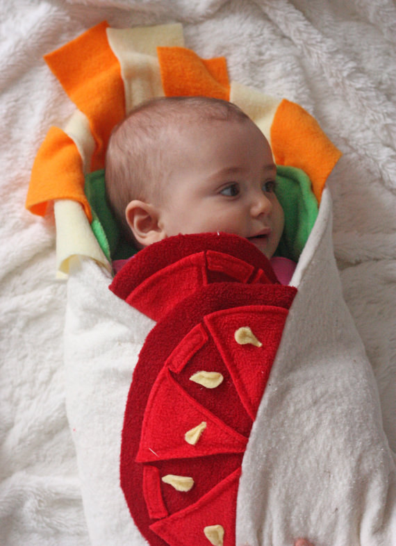 Burritos = Good. Babies = Good. Burritos + Babies? OMG. So good.