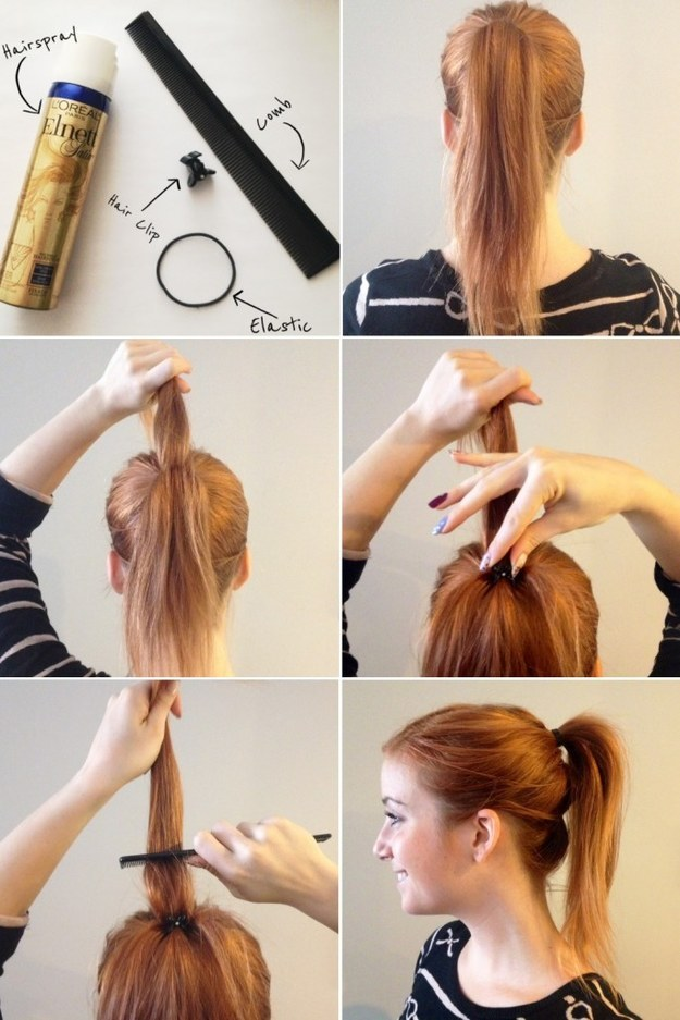 Get some much needed ponytail height with a little butterfly hair clip.