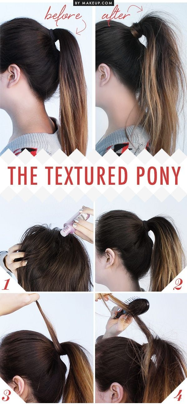 Give your ponytail that effortlessly messy look by texturizing it with dry shampoo.