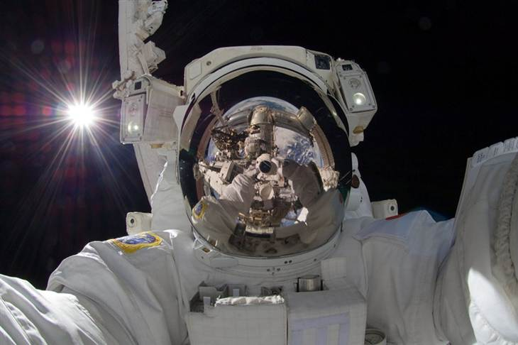 11. And the best selfie EVER goes to Aki Hoshide...from space.