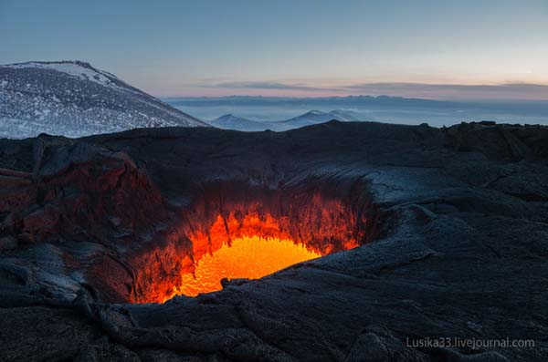 So active, in fact, that the photographers were visiting during an eruption.