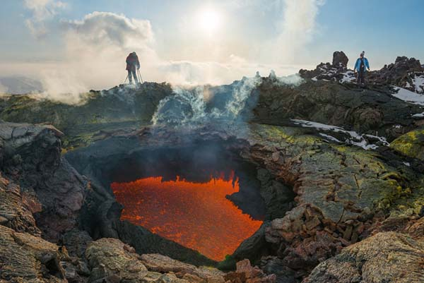 """This volcano isn't meek, either. In 1975, there was a large event called the """"The Great Tolbachik Fissure Eruption,"""" which was preceded by an earthquake swarm."""