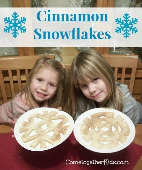 Cinnamon snowflakes are a craft you can actually eat.