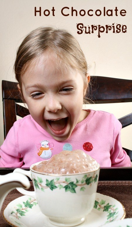 Give them a thrill with this hot chocolate surprise!