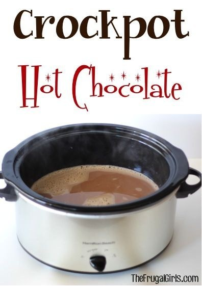 Make a family sized pot of hot chocolate, and make your house smell amazing.