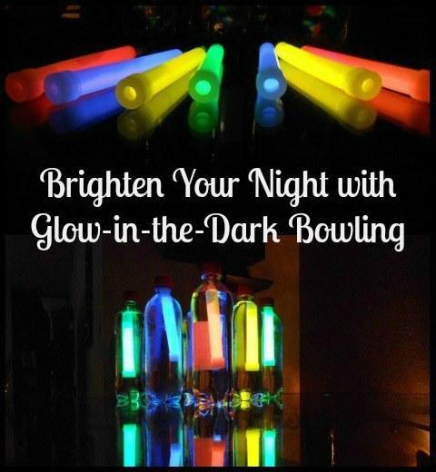 Brighten dark nights with these DIY glow-bowling pins. Glowling pins!