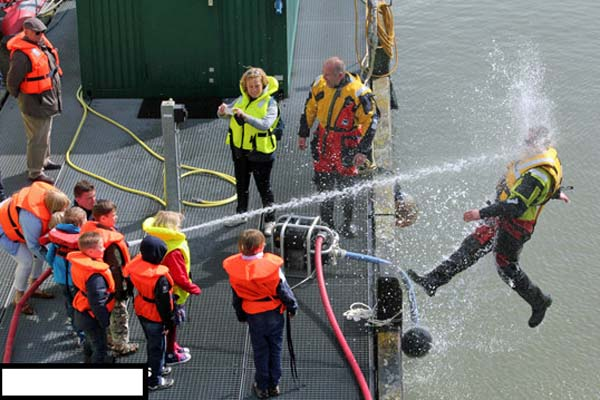 """24.) That day, the """"dangers of the fire hose"""" lesson really sunk in."""