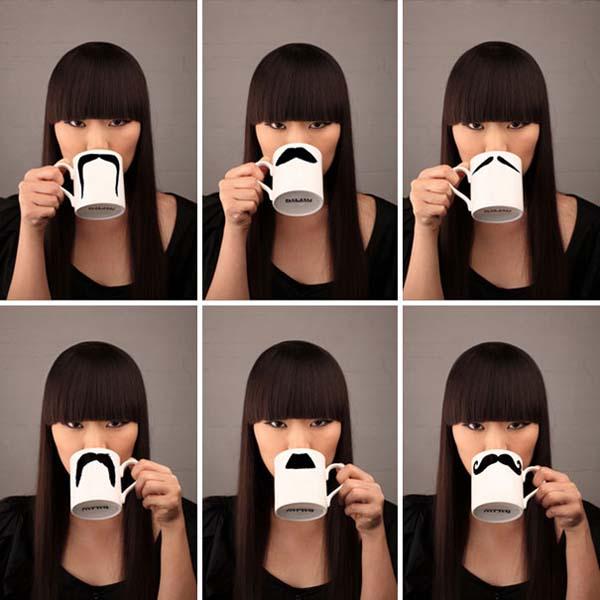 18.) Mustache mugs