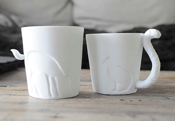 24.) Adorable tail mugs