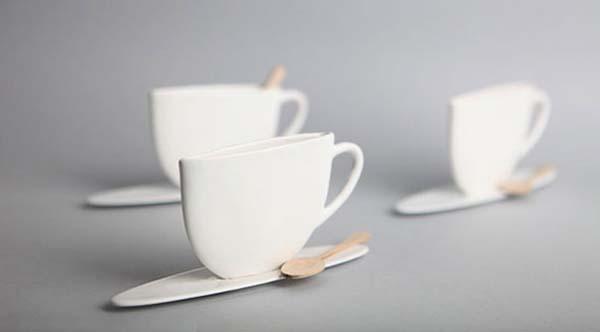 19.) Slim design mugs