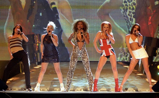Here's the Spice Girls at the BRIT Awards, circa 1997. You feeling old yet?